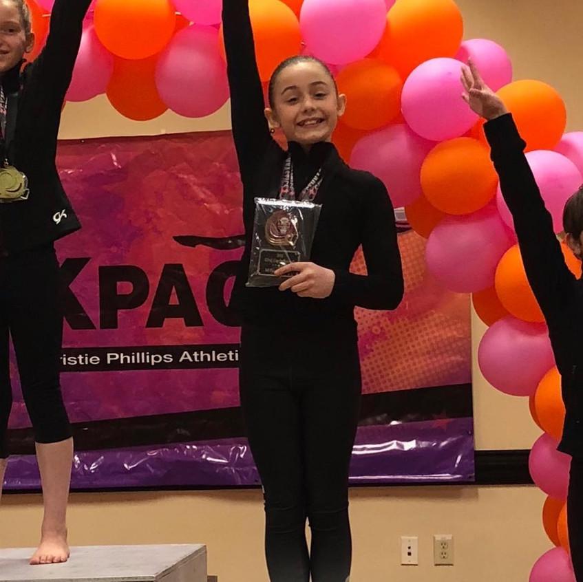 FIF Girls Gymnastics Level 7 Alexi 3rd AA KPAC Cup 2018