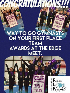 All 1st Place Teams at EDGE Meet!