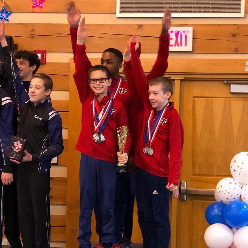FIF Boys Level 9 1st Place Team Miles Av