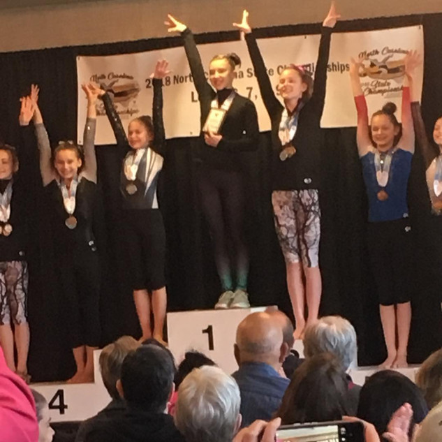 FIF Gymnastics Level 6 Rachael 1st AA NC State Championships 2018