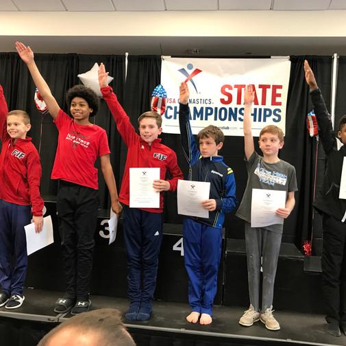 FIF Boys Gymnastics Level 8 NC State Elite Team 2018