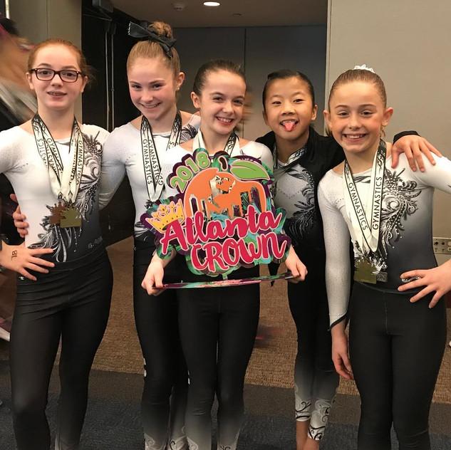 FIF Girls Level 7 1st Place Team Atlanta Crown Invitational 2018