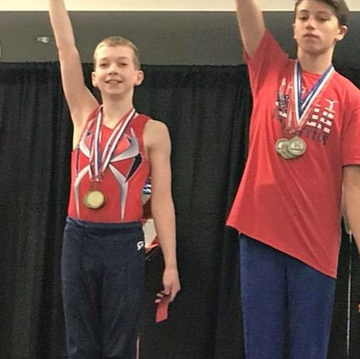 FIF Boys Gymnastics Level 8 1st AA Jacob NC State Championships 2018
