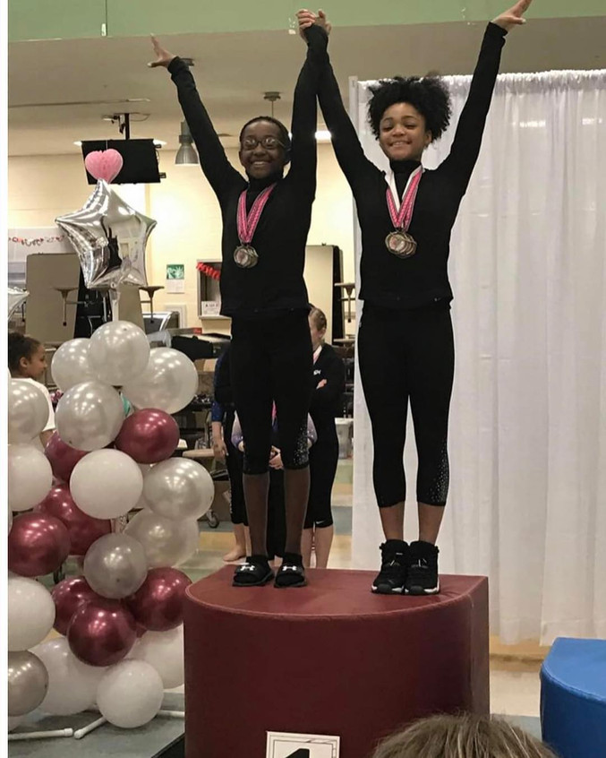 FIF Girls Level 7 Ambria 2nd AA  and Pat