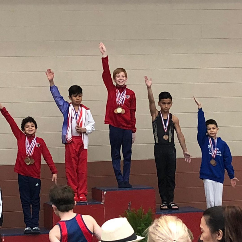 FIF Boys Gymnastics Compulsory Regional Championships 2018 Level 6 Garrett 1st Highbar and 3rd AA