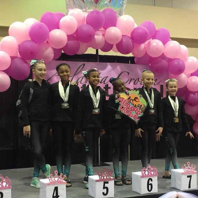 FIF Girls Level 6  1st Place Team Atlanta Crown Invitational 2018