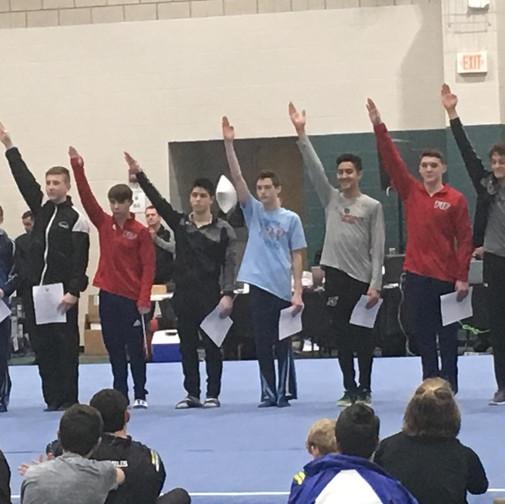 FIF Boys Gymnastics Level 10 NC Elite Team Members Joseph and Ethan 2018