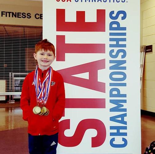 FIF Boys Gymnastics Level 5 1st AA Arthur NC State Championships 2018