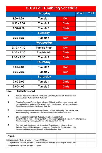 FIF Tumbling Schedule Updated 7.31.19.pn