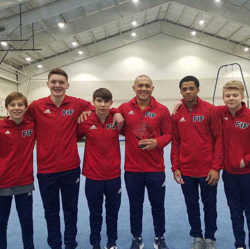 FIF Boys Gymnastics level 9 and 10 with Coach Soto NC State Optional Coach of the Year 2018