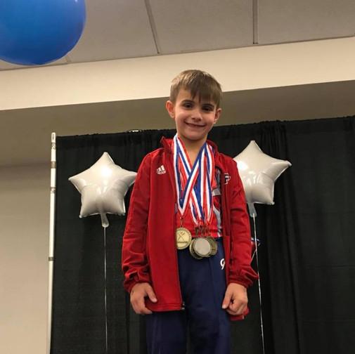 FIF Boys Gymnastics Level 4 1st AA Levi NC State Championships 2018