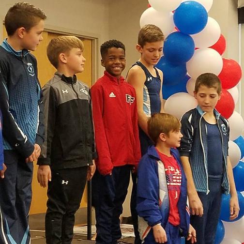 FIF Boys Gymnastics Level 5 Jonathan with NC State Elite Team 2018