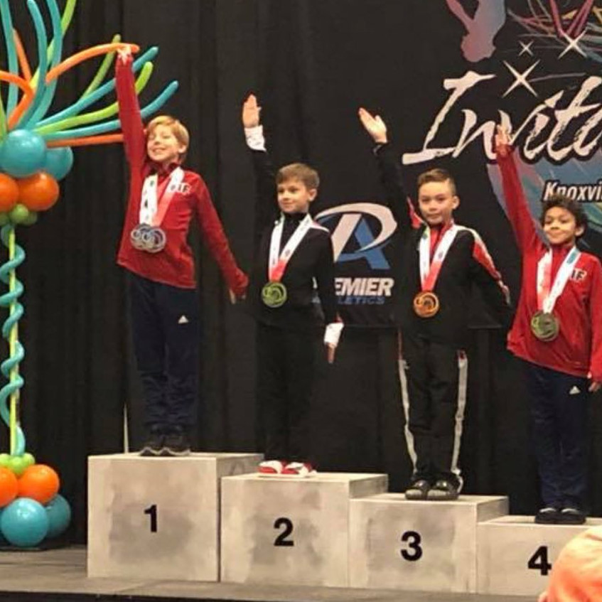 FIF Boys Level 6 1st on Rings and 2nd All Around Garrett Ozone Invitational 2018