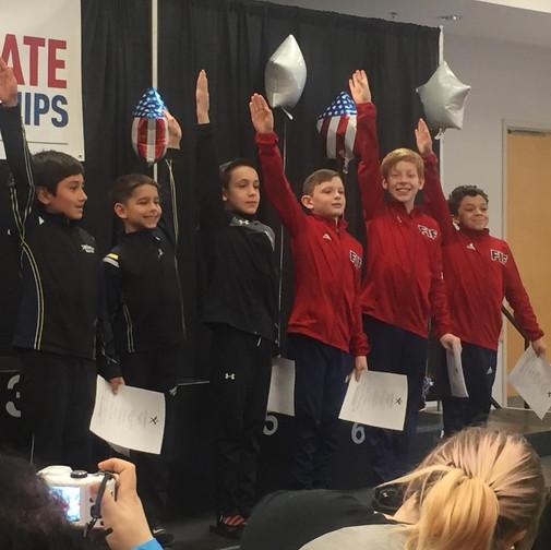 FIF Boys Gymnastics Level 6 NC Elite Team Members Jaden, Garrett and Jacob 2018
