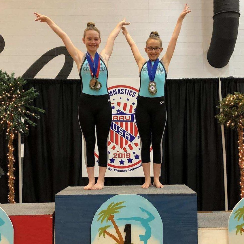 FIF AAU Silver Kinley and Eva 1st AA Reg