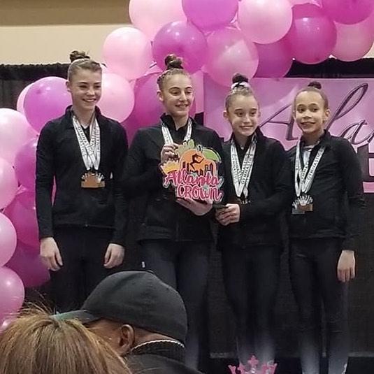 FIF Girls Level 8  3rd Place Team Atlanta Crown Invitational 2018
