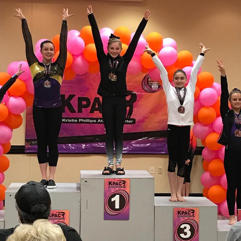 FIF Girls Gymnastics Level 7 Logan 1st AA KPAC Cup 2018