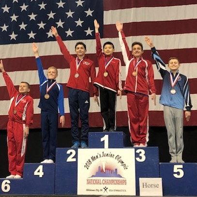 Aidyn Rivera 2nd Pommel Level 9 JO