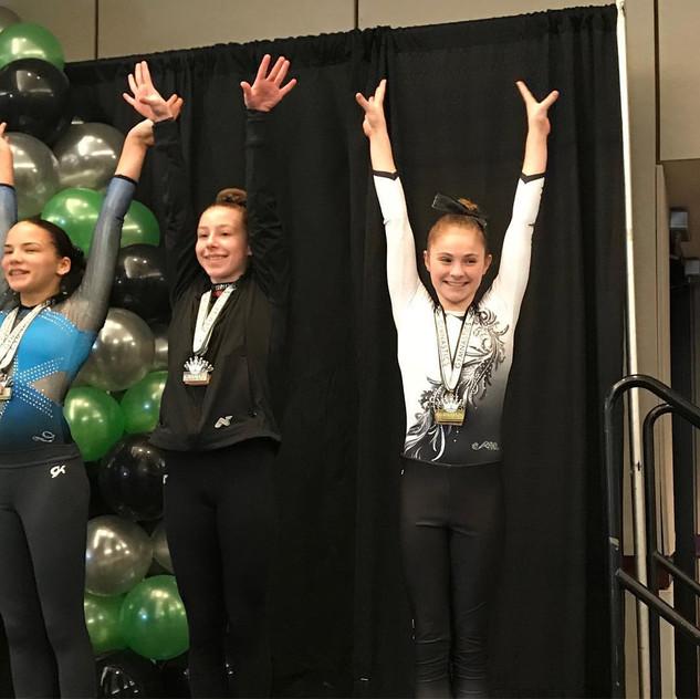 FIF Girls Level 7 Logan 1st Bars and Beam Atlanta Crown Invitational 2018