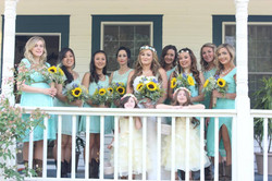 Sunflower Bridesmaids & Bride