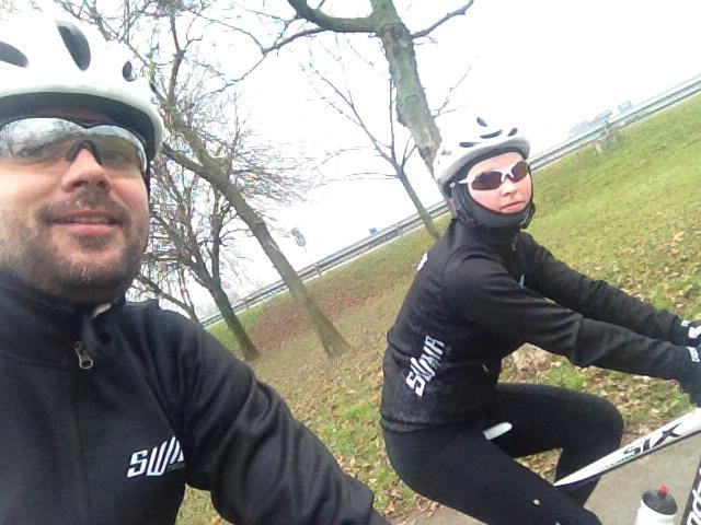 After long time 1h family bike ride _)