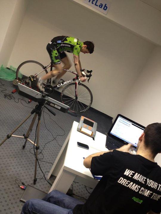 Matej Sporar clan Swibir Race Team-a na RETUL bike fittingu