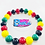 Thumbnail: Black Green Yellow Red Glass Beaded Stretch Bracelet