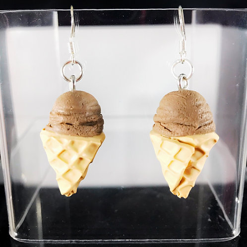 Chocolate Ice Cream Dangle Earrings