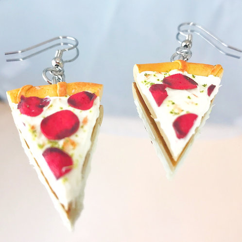 Polymer Clay Pepperoni Pizza Earrings