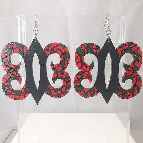 Hand Painted Hye Won Hye Wooden Earrings