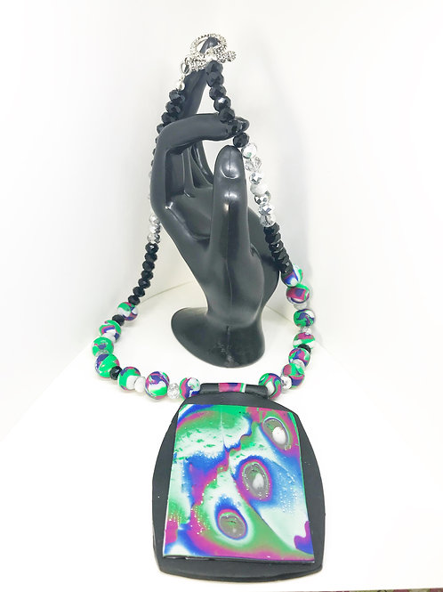 Handmade Polymer Clay Necklace & Earrings Set