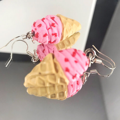 Strawberry Ice Cream Dangle Earrings