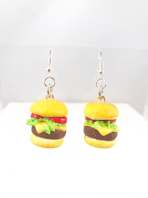 Cheeseburger Deluxe Dangle Earrings