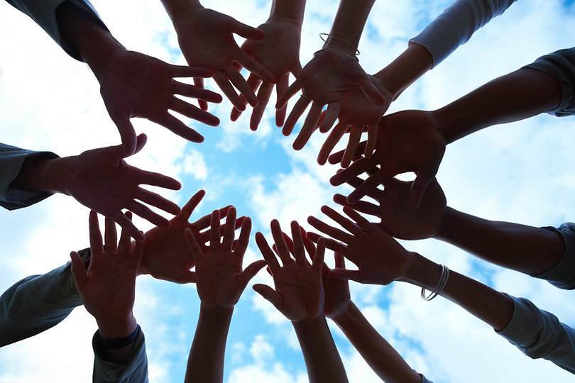 newsletter-group-of-mixed-hands-showing-