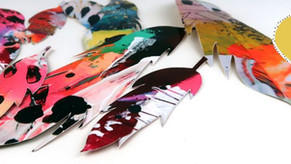 Free paper feathers for Easter