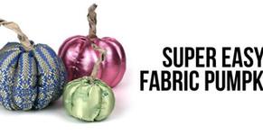 Super easy fabric pumpkins