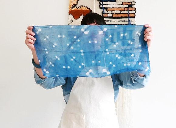 Kampanj: Färga shibori med indigo + sidenscarf