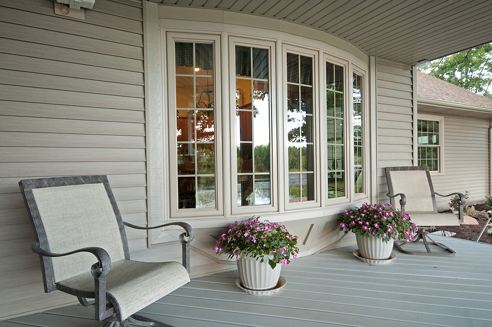 Add Windows to a Dark Room  Is there a room in your home that you would like to brighten up? Maybe there's a scenic view outside, but not enough window to display it.  Adding bay and bow windows will increase that amount of light that comes into your dark room.
