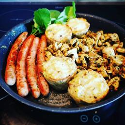 saucisses champignons.._