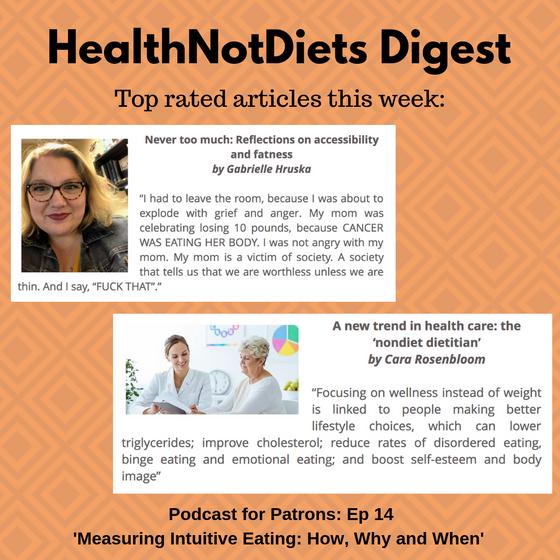 HealthNotDiets Digest, Issue 42, 2018