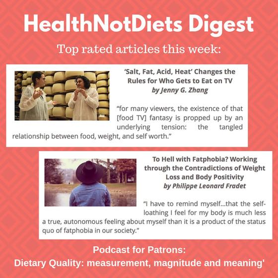 HealthNotDiets Digest, Issue 45, 2018