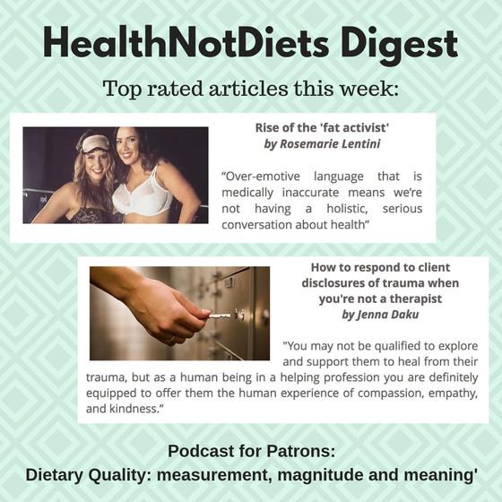 HealthNotDiets Digest, Issue 43, 2018