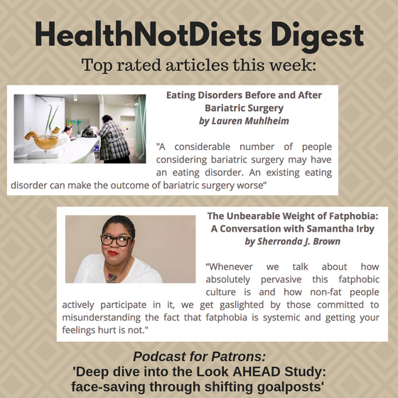 HealthNotDiets Digest, Issue 16, 2019