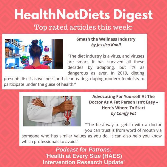HealthNotDiets Digest, Issue 23, 2019