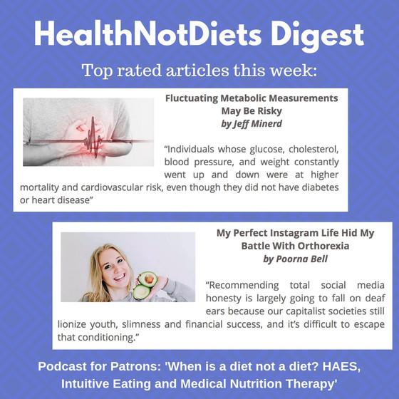 HealthNotDiets Digest, Issue 40, 2018
