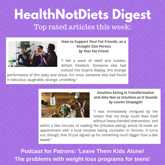 HealthNotDiets Digest, Issue 39, 2019