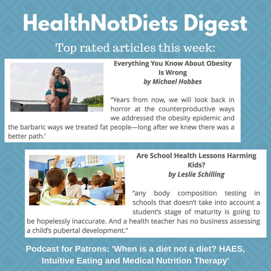 HealthNotDiets Digest, Issue 38, 2018