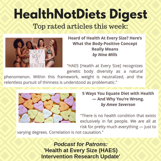 HealthNotDiets Digest, Issue 21, 2019