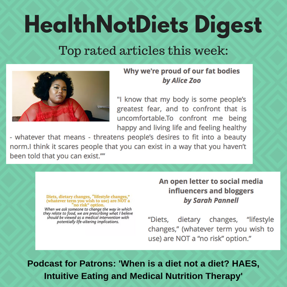 HealthNotDiets Digest, Issue 39, 2018