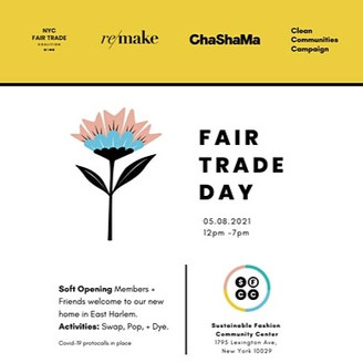 Fair Trade Day + Sustainable Fashion Community Center Soft Opening!